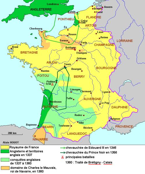 La Couronne France  city images : La guerre de Cent Ans première période : 1337 1360 , droits ...