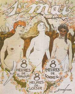 Le 1er mai, lithographie de Grandjouan pour l'Assiette au beurre (1906)