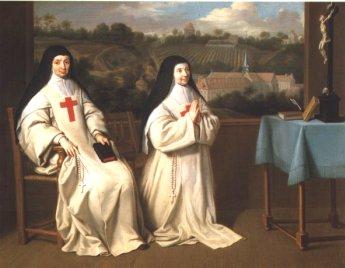 Mère Angélique et sa soeur, Mère Agnès, à Port-Royal, par Philippe de Champaigne