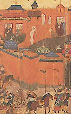Le siège de Bagdad, d'après une miniature persane du XVe siècle (BN)