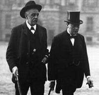 Balfour et Churchill pendant la Grande Guerre