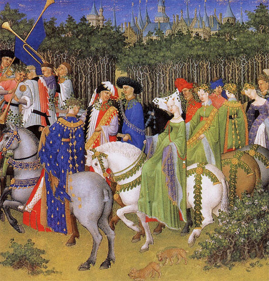Les très riches Heures du duc de Berry, le mois de mai, musée de Chantilly