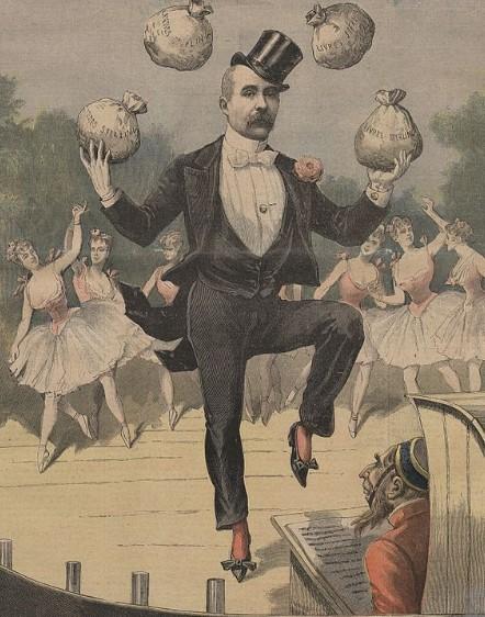 Georges Clemenceau et le scandale de Panama, caricature de presse