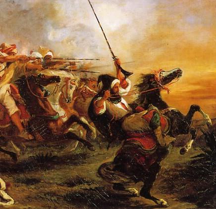 Guerre d'Algérie (1830-) Delacroix1832fantasia