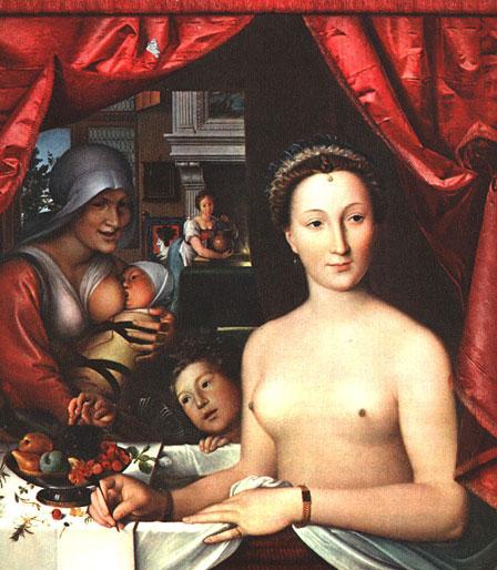 Diane de Poitiers, par François Clouet, peinture sur bois de 1571 (National Gallery of Art, Washington)