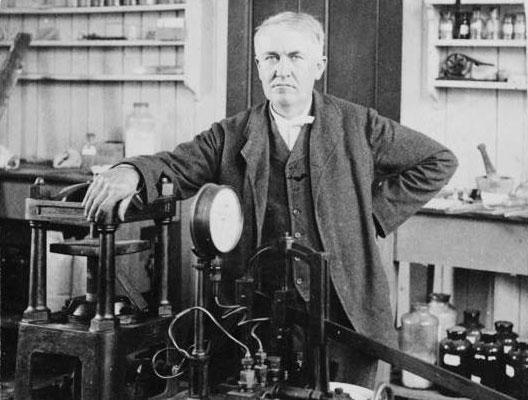 22 octobre 1879 edison invente l 39 ampoule lectrique. Black Bedroom Furniture Sets. Home Design Ideas