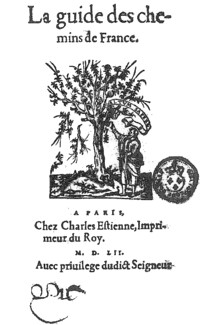 La Guide des chemins de France (Estienne, 1556)