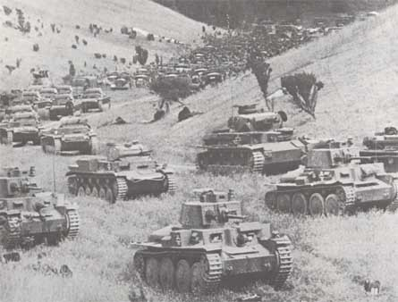 La percée des chars (panzers) allemands en mai 1940 (DR)