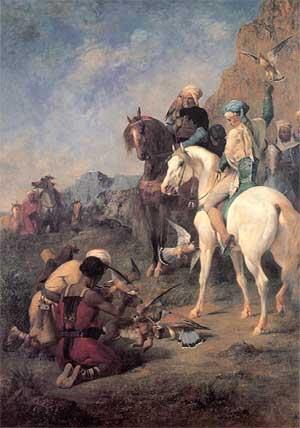 La chasse au faucon en Algérie, par Eugène Fromentin (1862, musée d'Orsay, Paris)