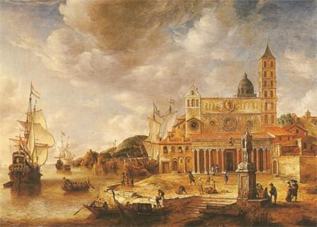 Une vue du port de Gênes à la fin du XVIIe siècle, par Beerstraten (musée du Louvre, Paris)