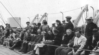 Passagers à bord du Wilhelm Gustloff lors d'une croisière en 1938