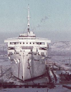 Le Wilhelm Gustloff à quai à Gotenhafen