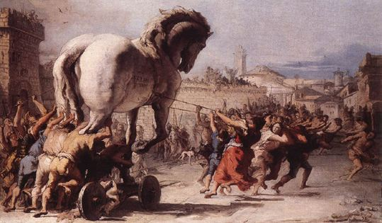 Giambattista Tiepolo, Le Cheval de Troie, 1770, The National Gallery, Londres