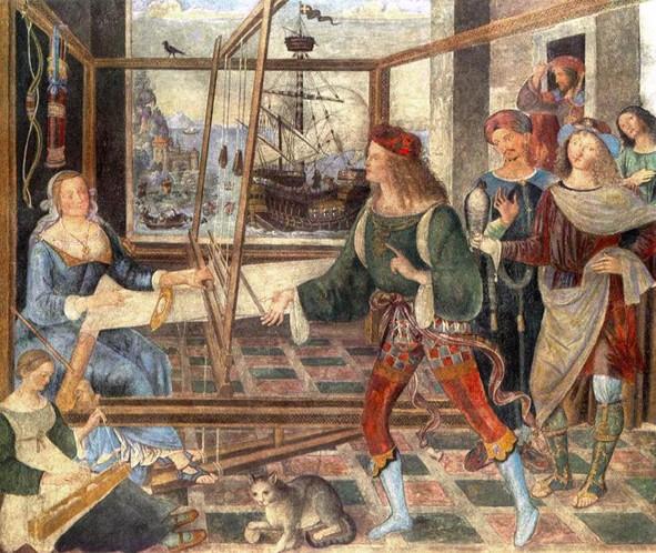 Pinturicchio, Le Retour d'Ulysse, 1509, National Gallery, Londres