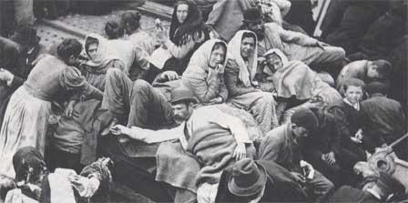 Irlandais en partance pour les Etats-Unis après la Grande Famine de 1847