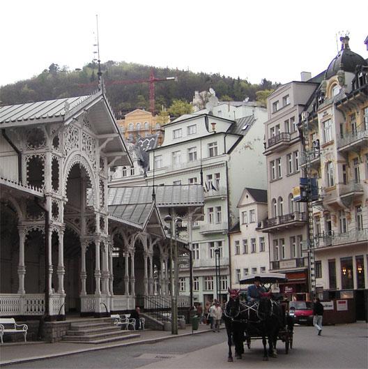 La station thermale de Carlsbad (Bohême), aujourd'hui Karlovy-Vary, en République tchèque (photo : André Larané