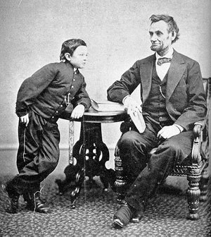 Abraham Lincoln et son fils Tad