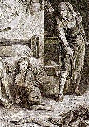 LouisXVII et le cordonnier Simon (gravure romantique)