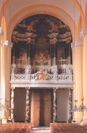 L'orgue théâtral de l'église Saint-Jacques de Lunéville (photo: André Larané)