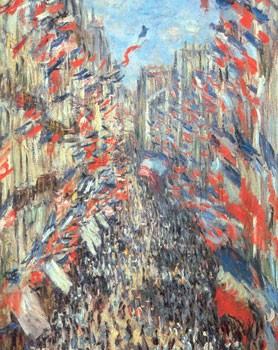 La rue Montorgueil (Claude Monet, muse du Louvre, Paris)