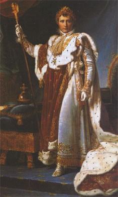 Napoléon 1er en habit de sacre (baron Gérard, château de Versailles)