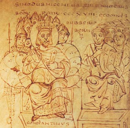 20 MAI 325 LE CONCILE DE NICÉE CONDAMNE L'ARIANISME NiceeConstantin