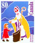 SinterKlaas sur un timbre canadien