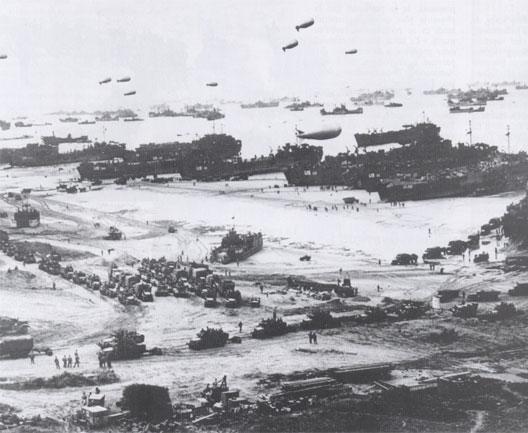 Débarquement sur une plage normande (6 juin 1944, Overlord)