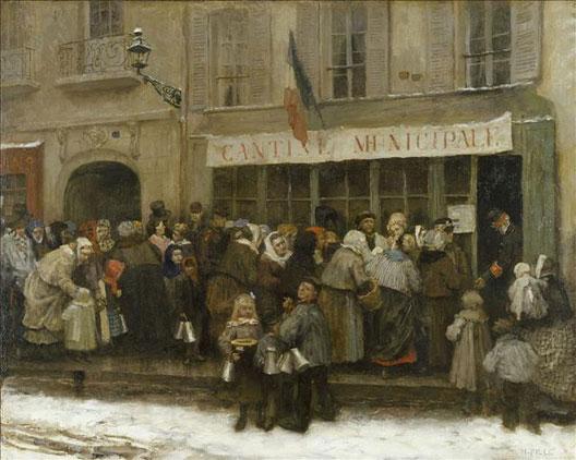 Scène du siège, par H. Pille (Paris, musée Carnavalet)