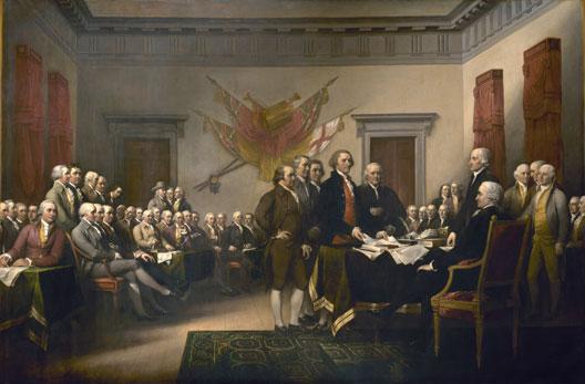 Le congrès de Philadelphie en 1776 (Yale University Gallery, New Haven)