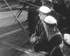 Une image du film d'Eisenstein (Le cuirassé Potemkine)