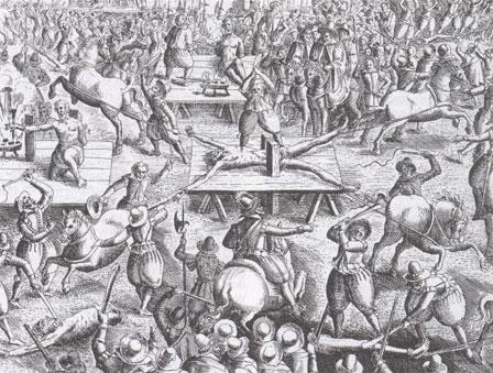 l'assassinat de HENRI IV Ravaillacexecution_BNF