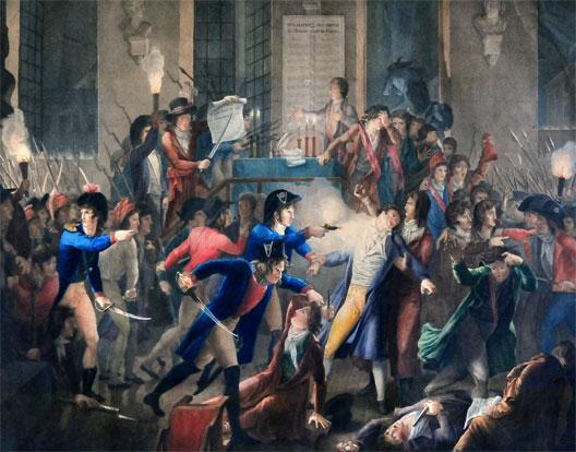 28 juillet 1794 - Mort de Robespierre . RobespierreMerda