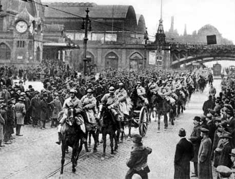Les troupes françaises occupent la Ruhr en janvier 1923