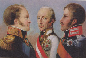Frédéric-Guillaume III, François 1er et Alexandre 1er