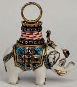 Bijou de l'ordre de l'éléphant du Danemark, attribué à Napoléon le 18 mai 1808 et retrouvé à Waterloo (musée historique de Moscou)
