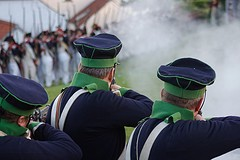 Reconstitution de la bataille de Waterloo (photo : Grégory Bellemont)
