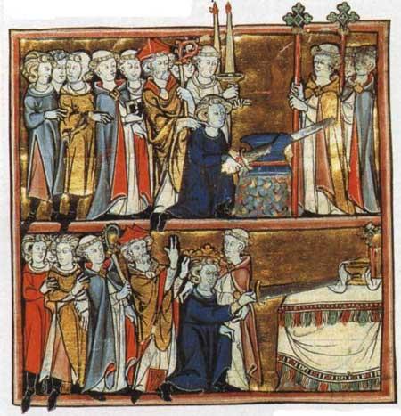Arthur retirant l p e de l enclume histoire de merlin - La table ronde du roi arthur ...