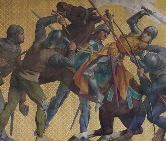 Jeanne d'Arc faite prisonnière à Compiègne (Jules Eugène Lenepveu, 1886, Panthéon, Paris)