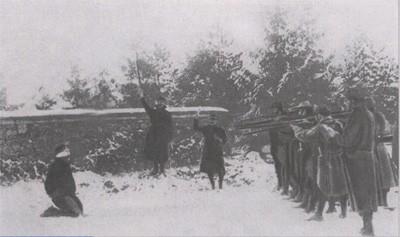 Exécution sur le front (photo : origine inconnue)