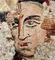 Deir-Moussa, peinture murale (Syrie) (photo : G. Grégor)