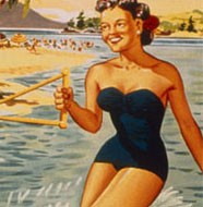 Les vacances (affiche du Club M&eacute;diterran&eacute;e, ann&eacute;es 1950)