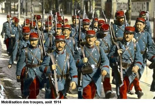 EN BREF :  1914-1918 - La Grande Guerre ou Première Guerre mondiale par André Larané 1418mobilisation