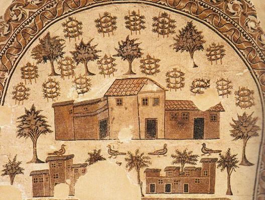 Villa romaine, mosaïque  du IVe s. ap. J.-C., musée du Bardo, Tunis