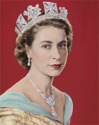 Elizabeth II lors de son couronnement, en 1952