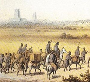 L'arrivée à Tombouctou par le nord, in Henreich Barth, Voyages et découvertes dans l'Afrique septentrionale et centrale, 1849-1855, BNF, Paris