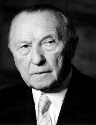 Konrad Adenauer (Cologne, 5 janvier 1876 - Rhöndorf, 19 avril 1967)