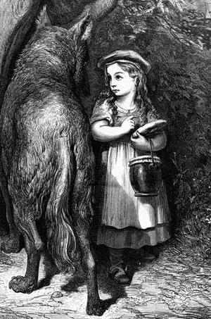 Le petit chaperon rouge (illustration de Gustave Doré, 1867)