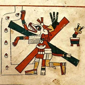 Xolotl, codex Fejérváry-Mayer, s. d., Mexique, Liverpool, Free Public Museum