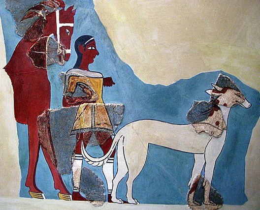 Fresque de Tirynthe, vers 1300 av. J.-C., Athènes, National Archaeological Museum